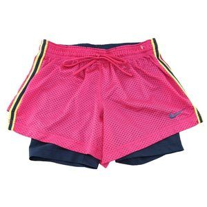 Nike Pro Combat Dri Fit Shorts Double Up 2 in 1